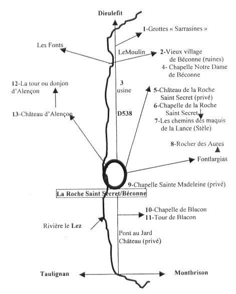 Sites à voir - Roche St Secret Béconne